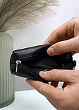 Мужская кожаная ключница черная, фото 2