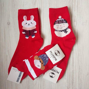 Ціна 100 грн за комплект з 3-х пар новорічних різдвяних шкарпеток новорічні шкарпетки