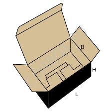 Коробка каталогу Fefco 0215 Коробка самозбираюча з відкидною кришкою і складним дном