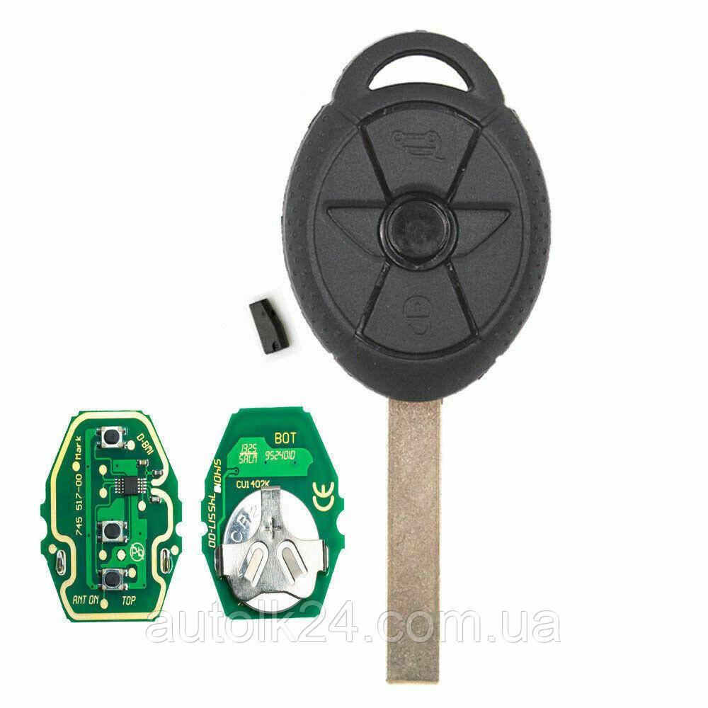 Ключ MINI Cooper лезвие HU92 434Mhz chip id44