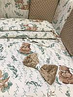 Комплект постельного в кроватку для новорожденного Белочка
