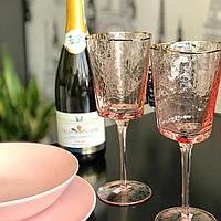 "Набор бокалов для вина ""Розовый трайангел"" 375 мл, 4 шт, фото 1"