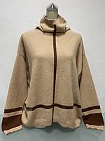 Свитер туника женский песочный с горлом бренд  люкс копия размер+, фото 1