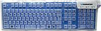 Manhattan Roll-Up Keyboard USB Blue (177573), фото 1
