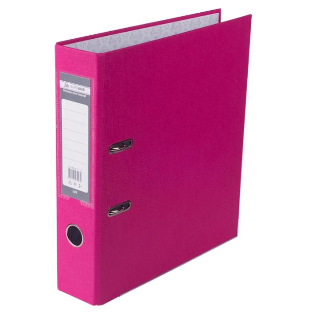 Папка регистратор LUX односторонняя JOBMAX A4, 70 мм, розовая