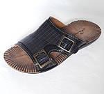 Мужские Шлёпанцы Тапочки LORIN Сланцы Чёрные Кожаные (размеры: 40), фото 2