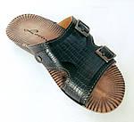 Мужские Шлёпанцы Тапочки LORIN Сланцы Чёрные Кожаные (размеры: 40), фото 5