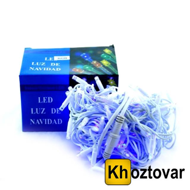Новогодняя гирлянда XMas LED 100 B-1 | Прозрачный провод | 100 ламп