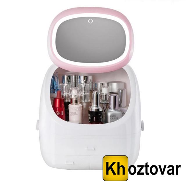 Органайзер для косметики з дзеркалом і LED підсвічуванням MakeupBox