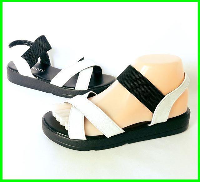 Женские Сандалии Босоножки Белые Резинка Летняя Обувь (размеры: 36,38,39)
