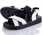 Женские Сандалии Босоножки Белые Резинка Летняя Обувь (размеры: 36,38,39), фото 3