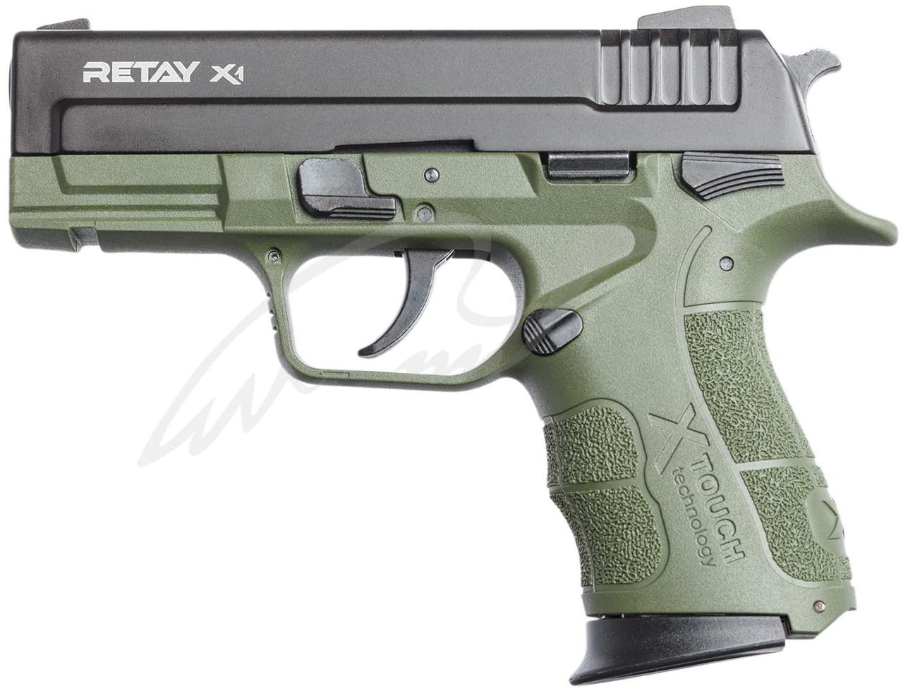 Пистолет стартовый Retay X1 9мм. olive