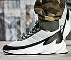 Кроссовки Adidas $harks Мужские Адидас Бело - Чёрные Акула (размеры: 41,42,,44) Видео Обзор, фото 2