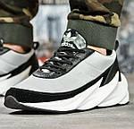 Кроссовки Adidas $harks Мужские Адидас Бело - Чёрные Акула (размеры: 41,42,,44) Видео Обзор, фото 4
