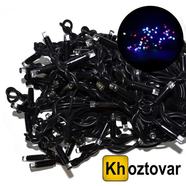Новорічна гірлянда XMas LED 100 M-4   Чорний дріт   100 ламп