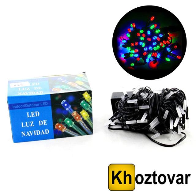 Новогодняя гирлянда XMas LED 100 M-5   Черный провод   100 ламп