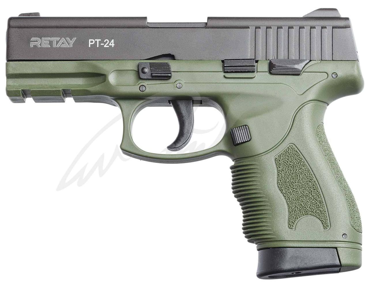 Пистолет стартовый Retay PT24 9мм. olive
