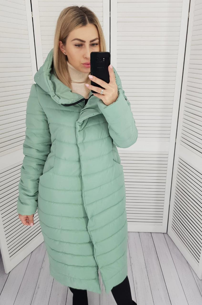 Женская куртка -кокон зима , длина миди, ШАЛФЕЙ, силикон 250,арт 180