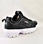 Кроссовки Fila Disruptor Чёрные (размеры: 38,40,41) Видео Обзор, фото 4