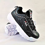 Кроссовки Fila Disruptor Чёрные (размеры: 38,40,41) Видео Обзор, фото 7