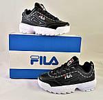 Кроссовки Fila Disruptor Чёрные (размеры: 38,40,41) Видео Обзор, фото 8
