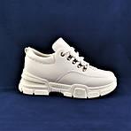 Женские Кроссовки Белые Слипоны Мокасины на Танкетке (размеры: 37) - 04-2, фото 6