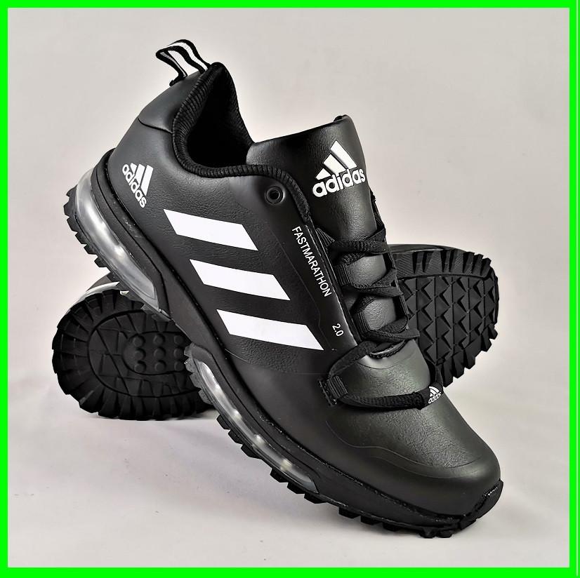 Кроссовки Adidas FastMarathon 2.0 Чёрные Мужские Адидас (размеры: 44) Видео Обзор