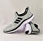 Кроссовки Adidas Сеточка Мужские Серые Летние Адидас Мокасины (размеры: 44,45) Видео Обзор, фото 2