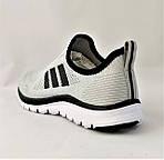 Кроссовки Adidas Сеточка Мужские Серые Летние Адидас Мокасины (размеры: 44,45) Видео Обзор, фото 4