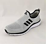 Кроссовки Adidas Сеточка Мужские Серые Летние Адидас Мокасины (размеры: 44,45) Видео Обзор, фото 6