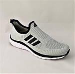 Кроссовки Adidas Сеточка Мужские Серые Летние Адидас Мокасины (размеры: 44,45) Видео Обзор, фото 7