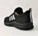 Кроссовки Adidas Сеточка Мужские Черные Летние Адидас Мокасины (размеры: 42,43,44,45) Видео Обзор, фото 5