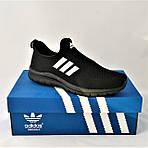 Кроссовки Adidas Сеточка Мужские Черные Летние Адидас Мокасины (размеры: 42,43,44,45) Видео Обзор, фото 10