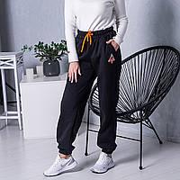 Теплі спортивні жіночі штани чорного кольору (IF-4Ш), розмір: S.