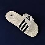 Мужские Шлёпанцы Тапочки ADIDAS Сланцы Массажёры Белые (размеры: 44), фото 5