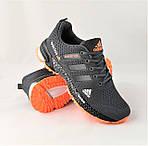 Кроссовки Adidas Fast Marathon Серые Мужские Адидас (размеры: 44) Видео Обзор, фото 3