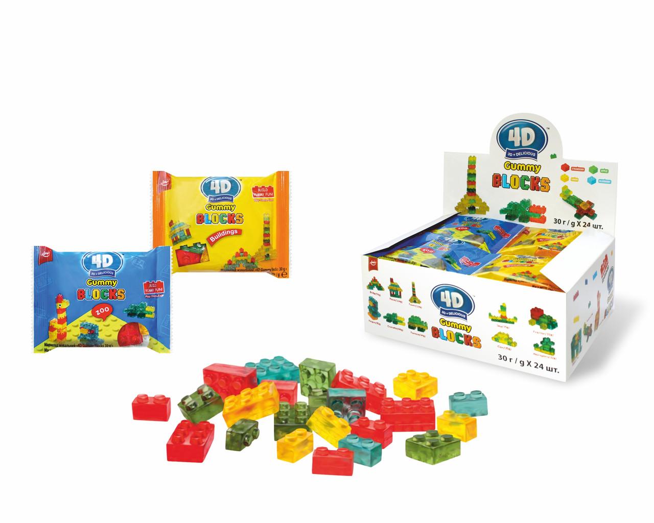 """Мармелад """"4D Gummy Blocks 30 g"""""""