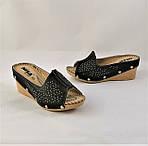Женские Шлёпанцы Сабо на Танкетке Черные Тапочки на Платформе (размеры: 36,39), фото 7