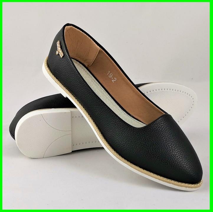 .Женские Балетки Черные Мокасины Туфли (размеры: 36,38,39,41) - 19