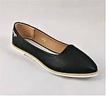 .Женские Балетки Черные Мокасины Туфли (размеры: 36,38,39,41) - 19, фото 3