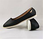 .Женские Балетки Черные Мокасины Туфли (размеры: 36,38,39,41) - 19, фото 6