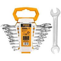 Комплект ключей гаечных рожковых двусторонних 6-22 мм INGCO INDUSTRIAL