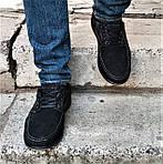 Мужские Мокасины Чёрные Замшевые Туфли (размеры: 41,42,44,45), фото 2