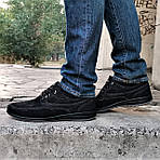 Мужские Мокасины Чёрные Замшевые Туфли (размеры: 41,42,44,45), фото 3