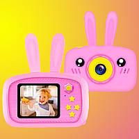 Противоударный детский цифровой фотоаппарат зайчик 20 Мп Smart Kids Camera 3 Series Розовый Original *
