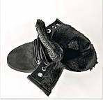 Зимние Ботинки Женские Черные Полусапожки на Меху Молния (размеры: 36,37,38,39,40,41) ВидеоОбзор - 820, фото 3
