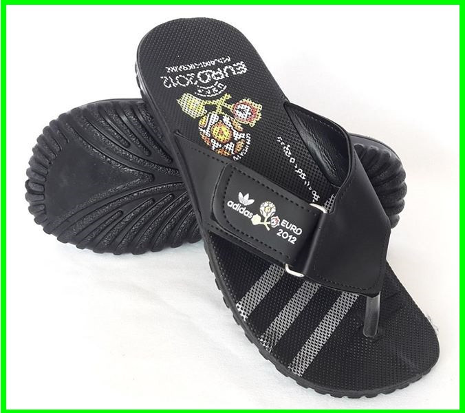 Мужские Шлёпанцы Тапочки ADIDAS Сланцы Вьетнамки Адидас Чёрные (размеры: 41,44)
