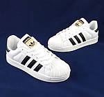 Кроссовки Adidas Superstar Белые Адидас Суперстар Женские Адидас (размеры: 36,37,38,40) Видео Обзор, фото 3