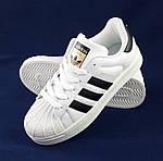Кроссовки Adidas Superstar Белые Адидас Суперстар Женские Адидас (размеры: 36,37,38,40) Видео Обзор, фото 9
