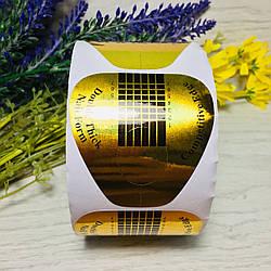 Формы для ногтей широкие, золото (500 шт.)